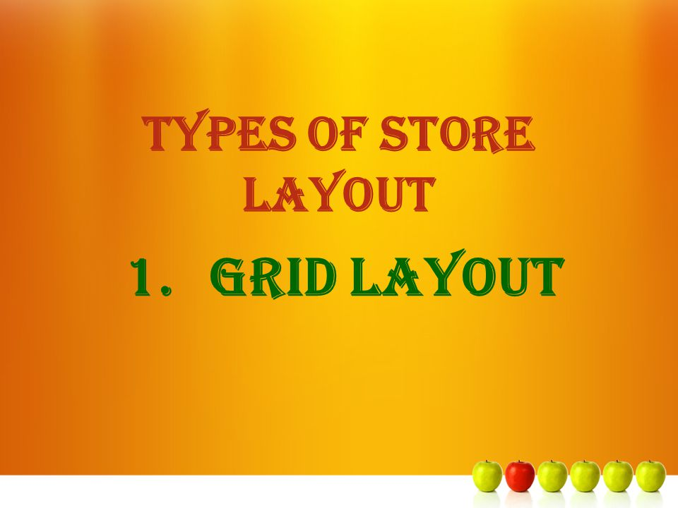 TYPES OF STORE LAYOUT Grid Layout