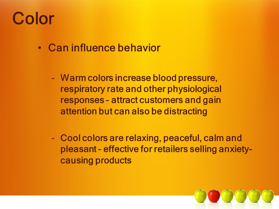 Color Can influence behavior