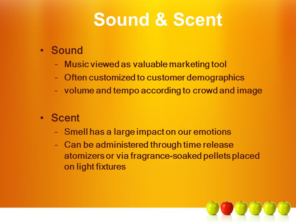 Sound & Scent Sound Scent Music viewed as valuable marketing tool