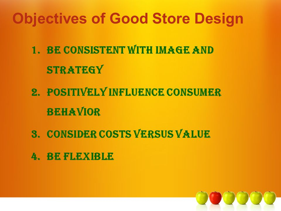 Objectives of Good Store Design