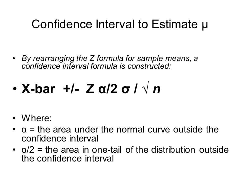 Confidence Interval to Estimate µ