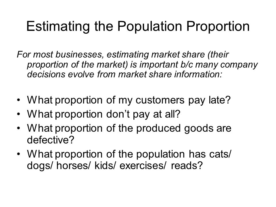 Estimating the Population Proportion