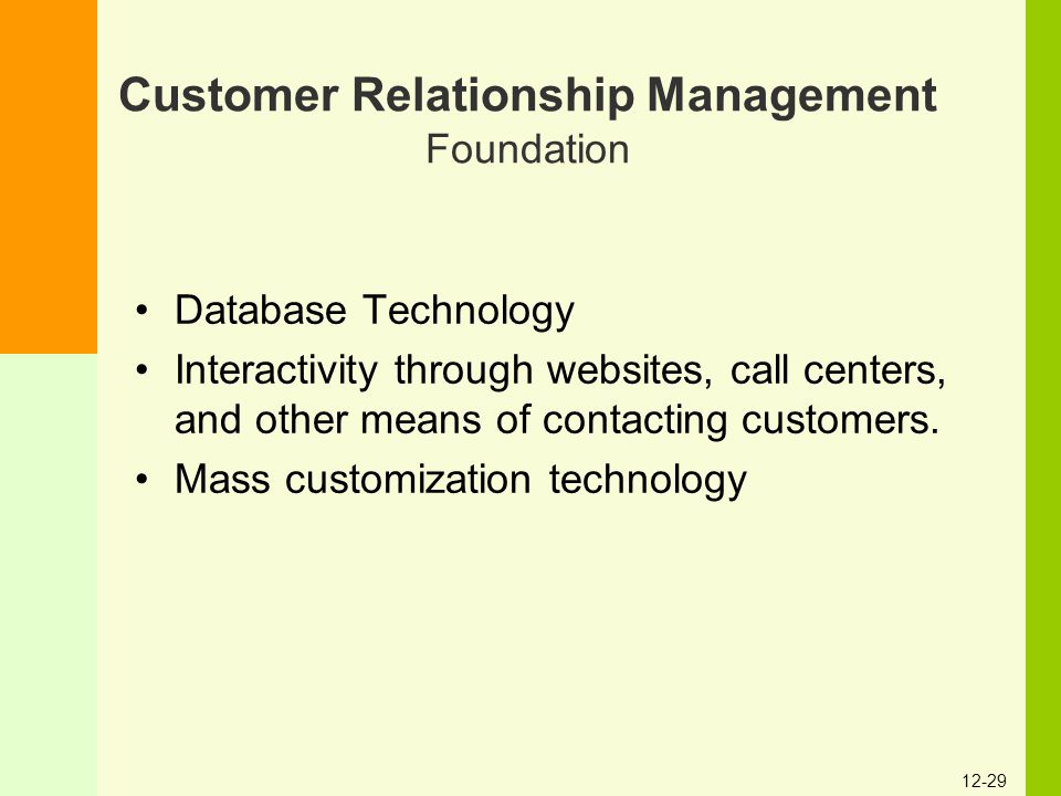 customer relationship management databased approach