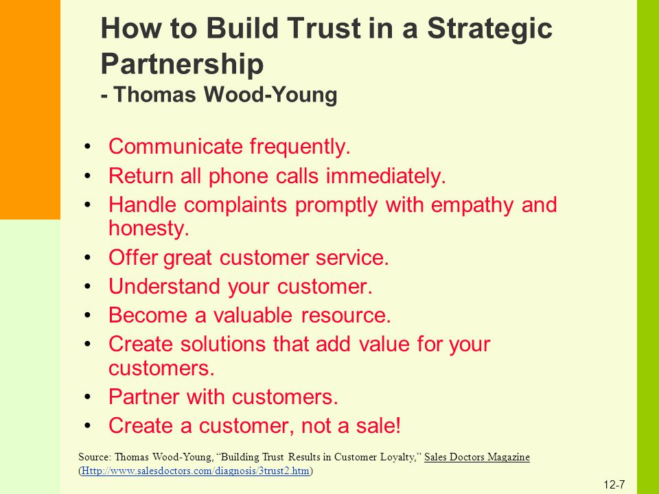 How to Build Trust in a Strategic Partnership - Thomas Wood-Young