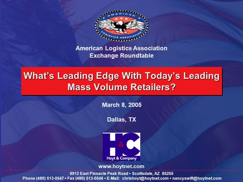 What's Leading Edge With Today's Leading Mass Volume Retailers