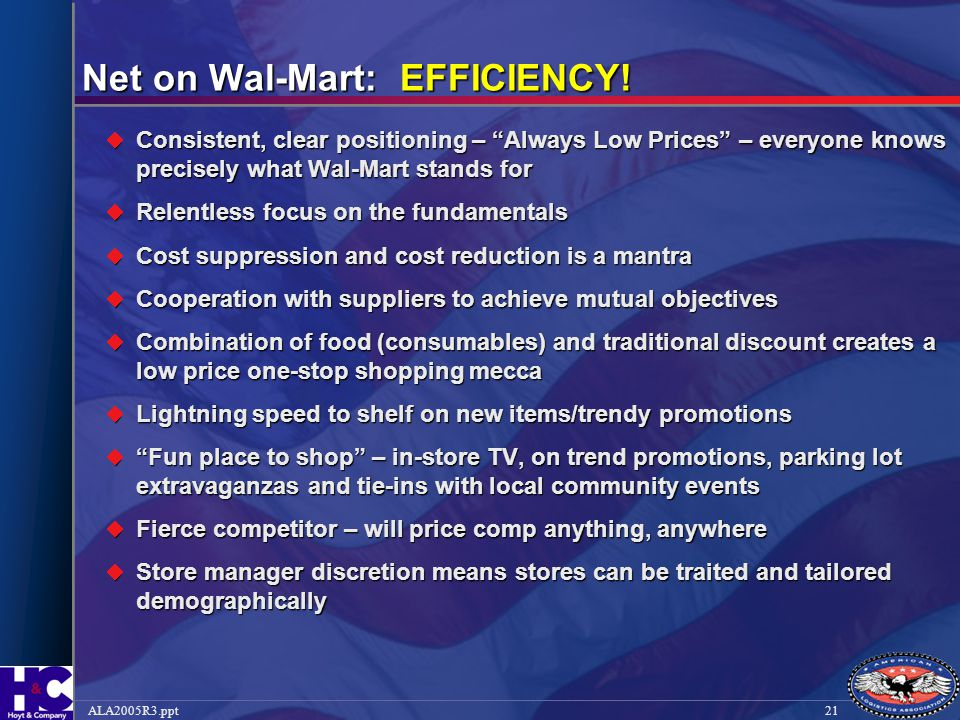 Net on Wal-Mart: EFFICIENCY!