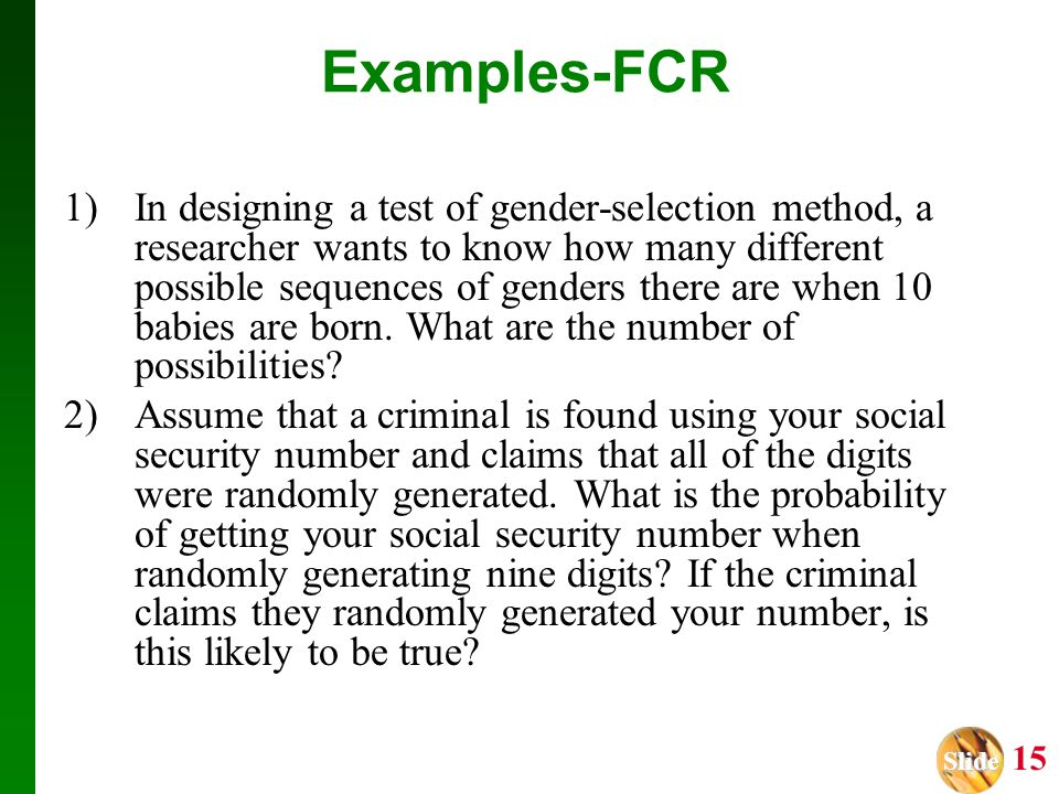 Examples-FCR