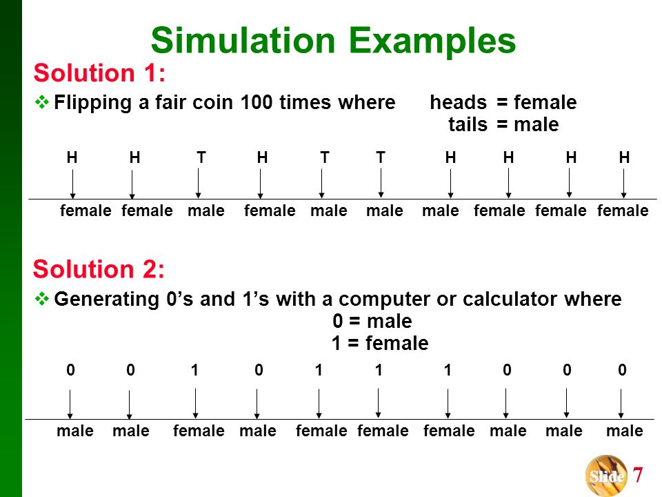 Simulation Examples Solution 1: Solution 2: