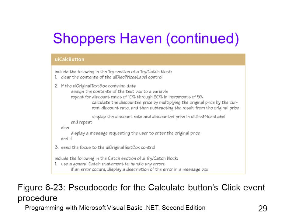 Shoppers Haven (continued)