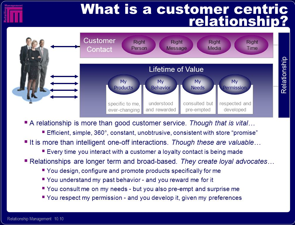 What is a customer centric relationship