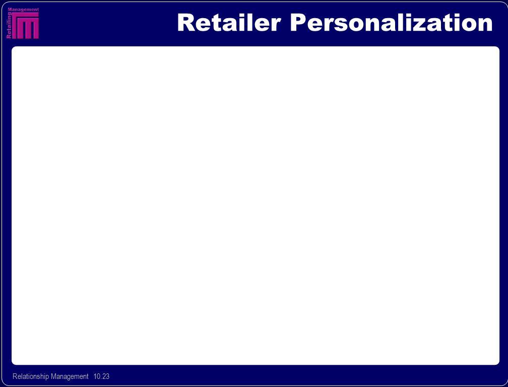 Retailer Personalization