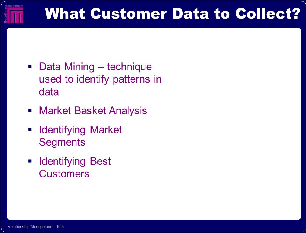 What Customer Data to Collect