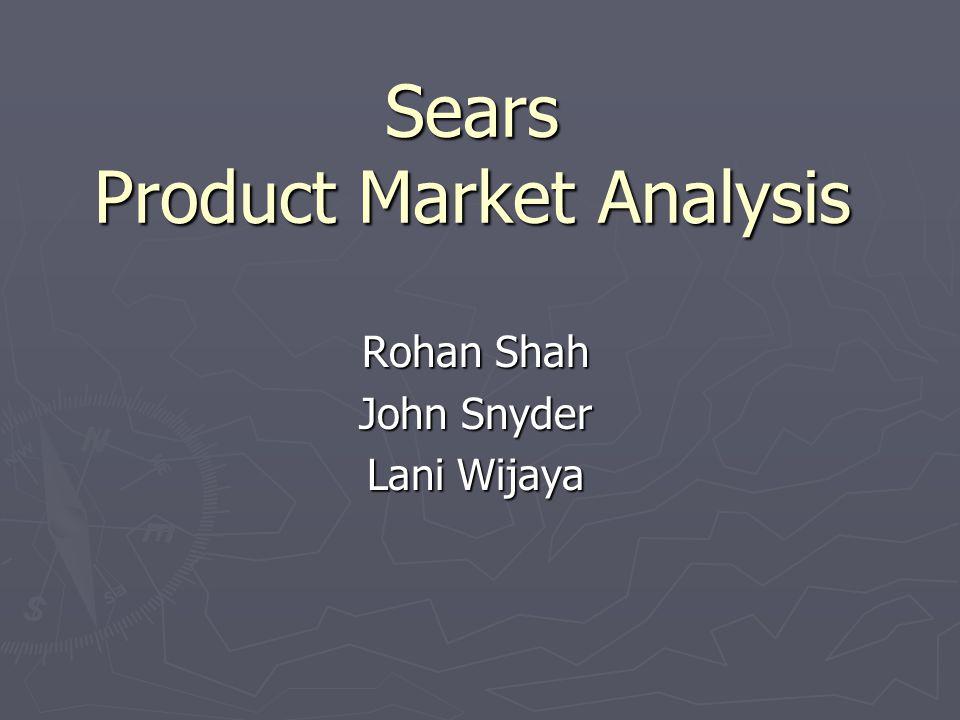 Sears Product Market Analysis