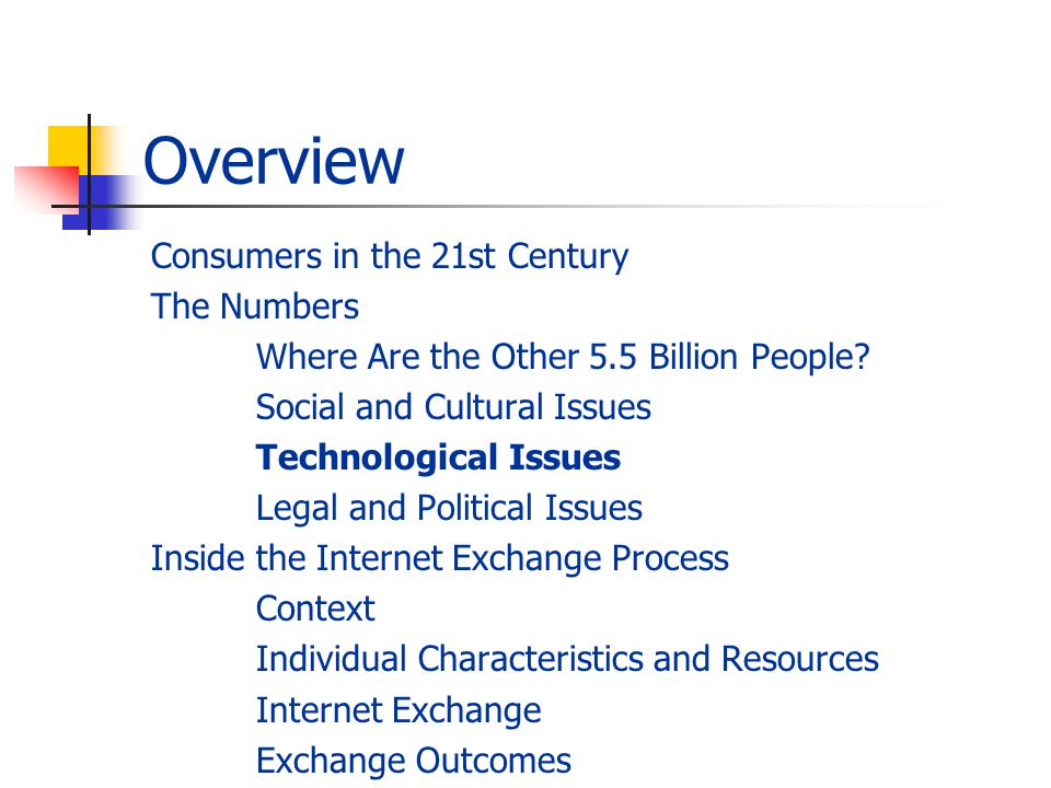Overview Consumers in the 21st Century The Numbers