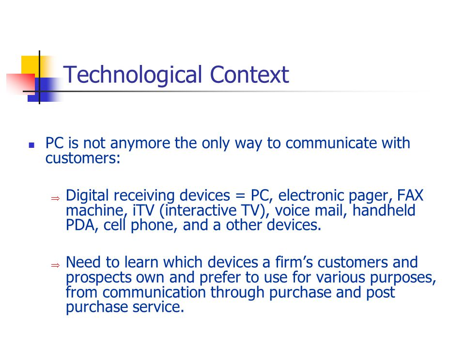 Technological Context