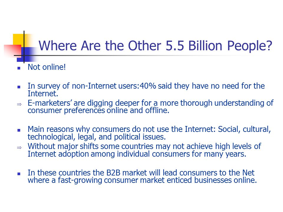Where Are the Other 5.5 Billion People