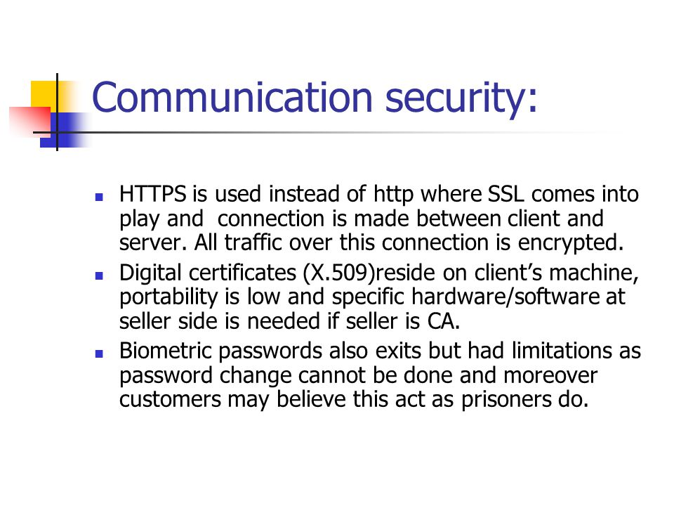 Communication security: