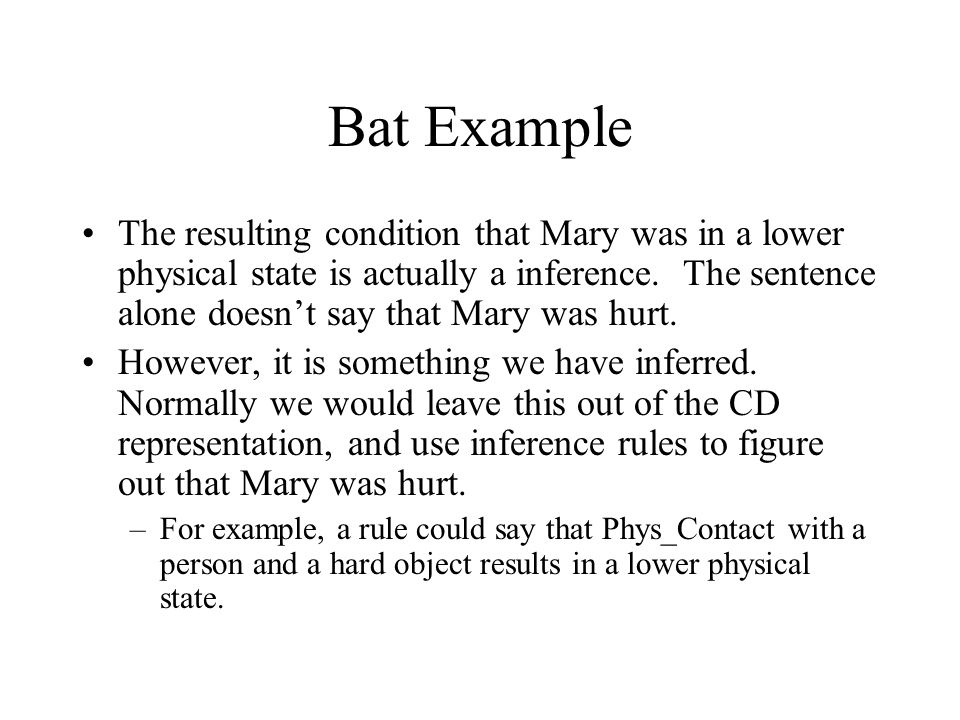 Bat Example