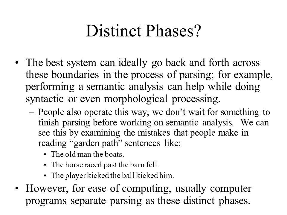 Distinct Phases