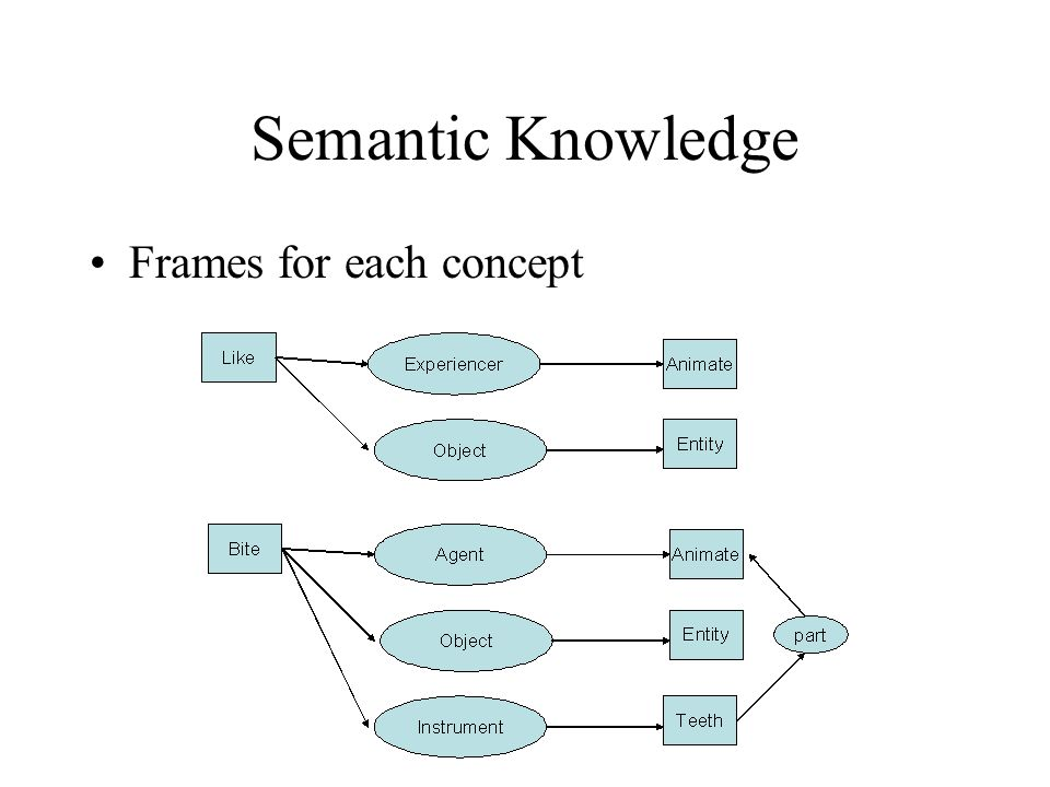 Semantic Knowledge Frames for each concept