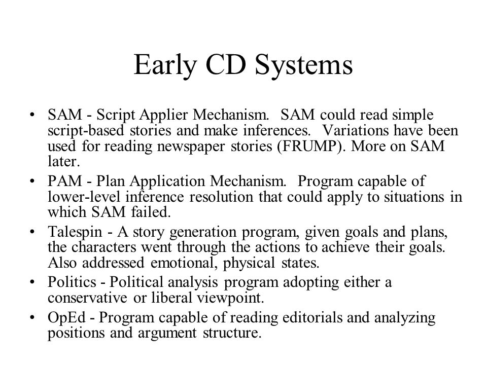 Early CD Systems