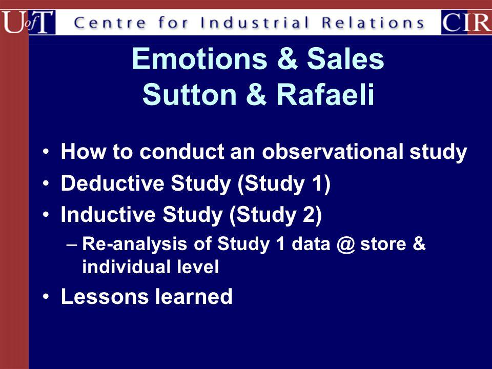 Emotions & Sales Sutton & Rafaeli