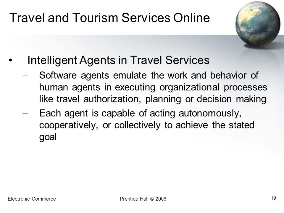 Travel and Tourism Services Online