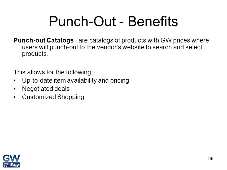 Punch-Out - Benefits