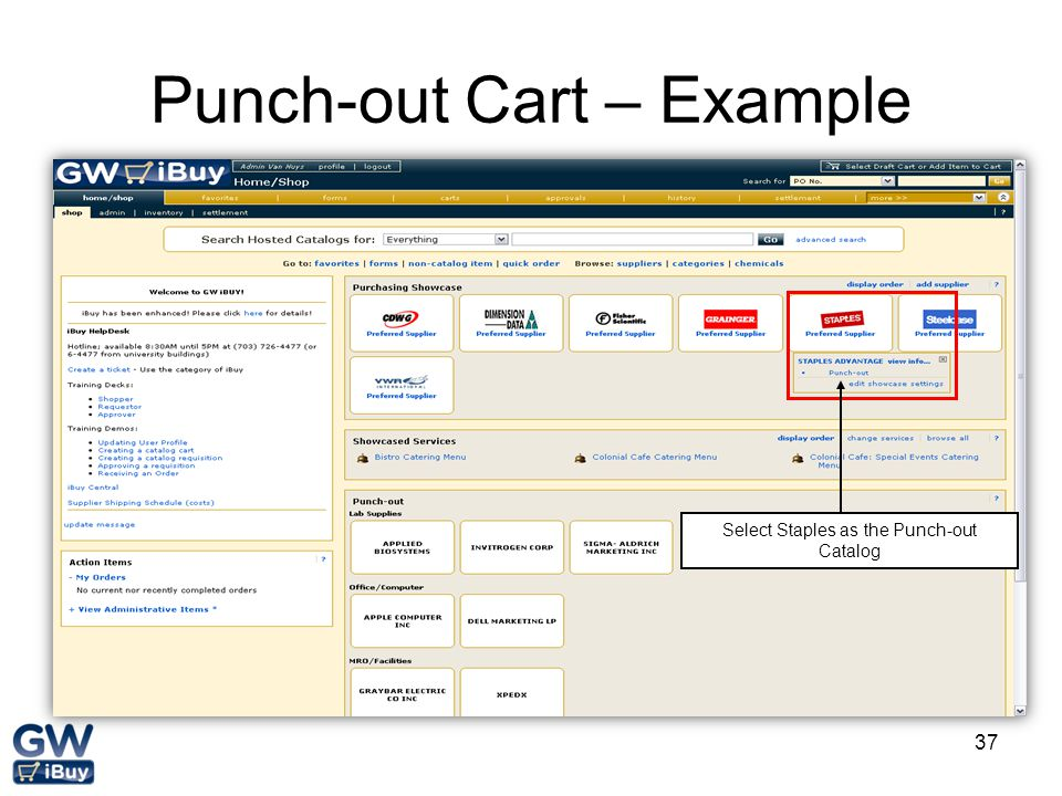 Punch-out Cart – Example