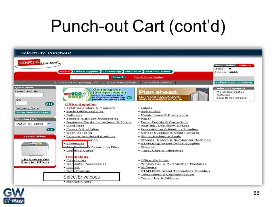 Punch-out Cart (cont'd)