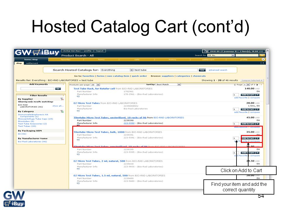 Hosted Catalog Cart (cont'd)