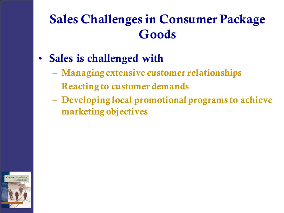 Sales Challenges in Consumer Package Goods