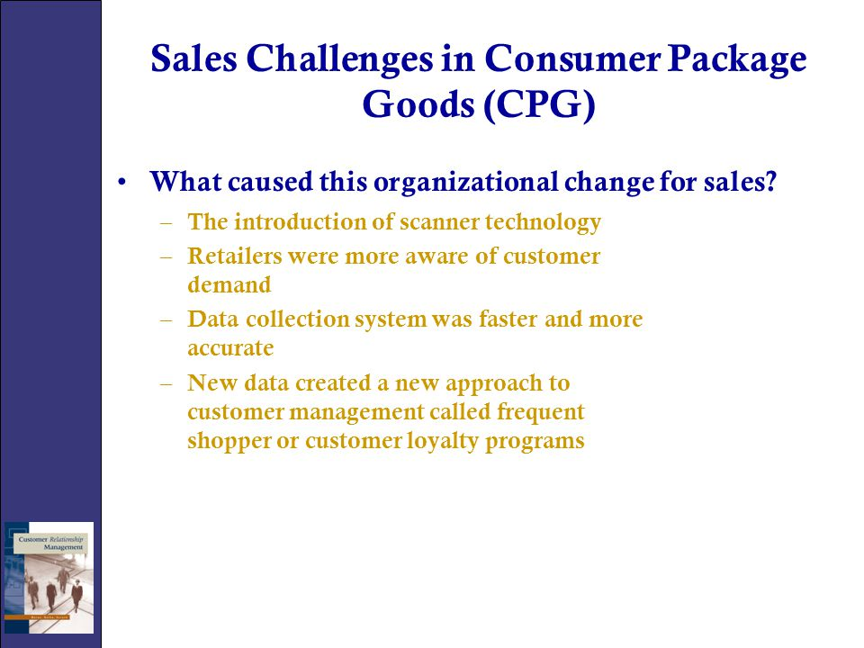 Sales Challenges in Consumer Package Goods (CPG)