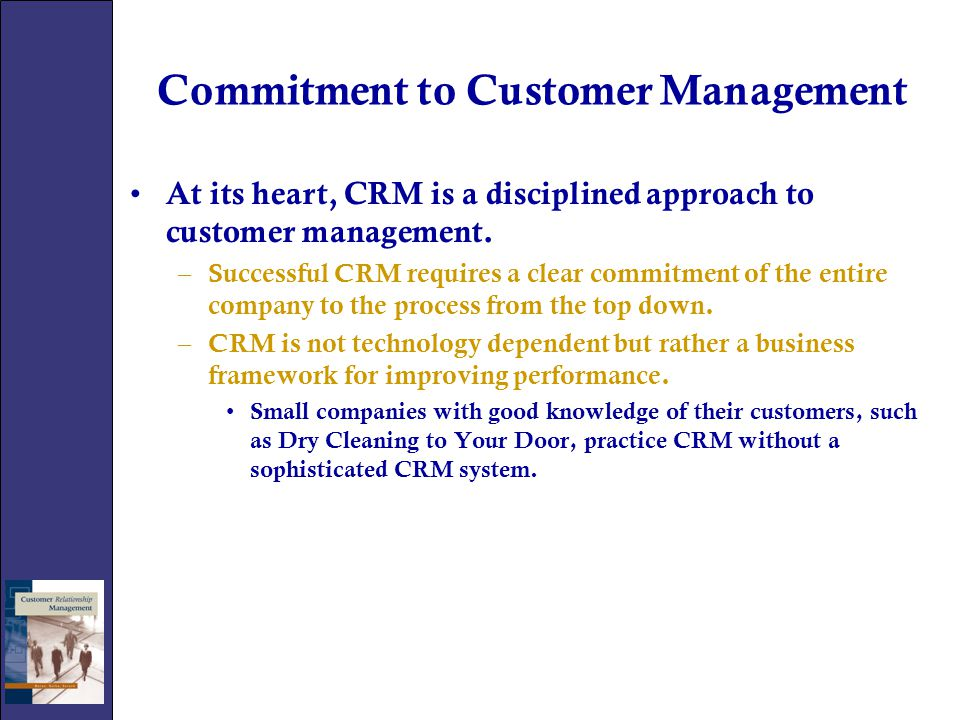 Commitment to Customer Management
