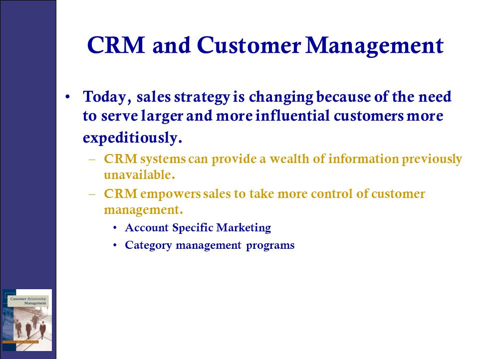 CRM and Customer Management