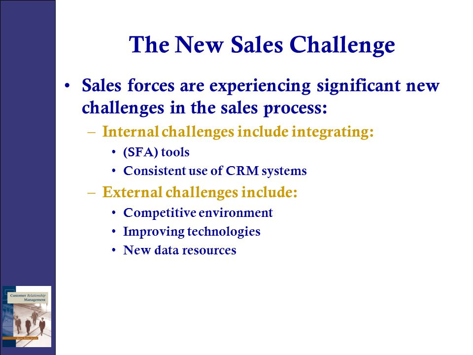The New Sales Challenge