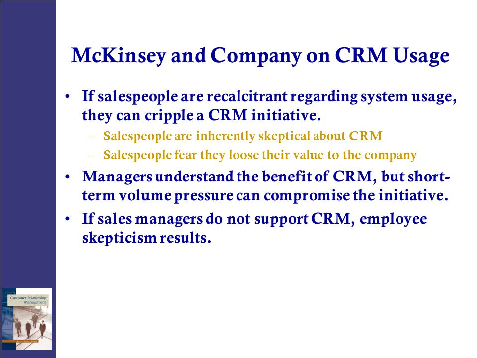 McKinsey and Company on CRM Usage