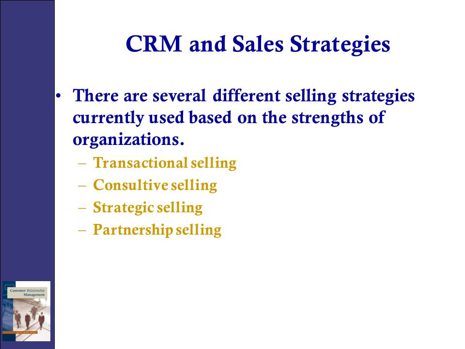 CRM and Sales Strategies