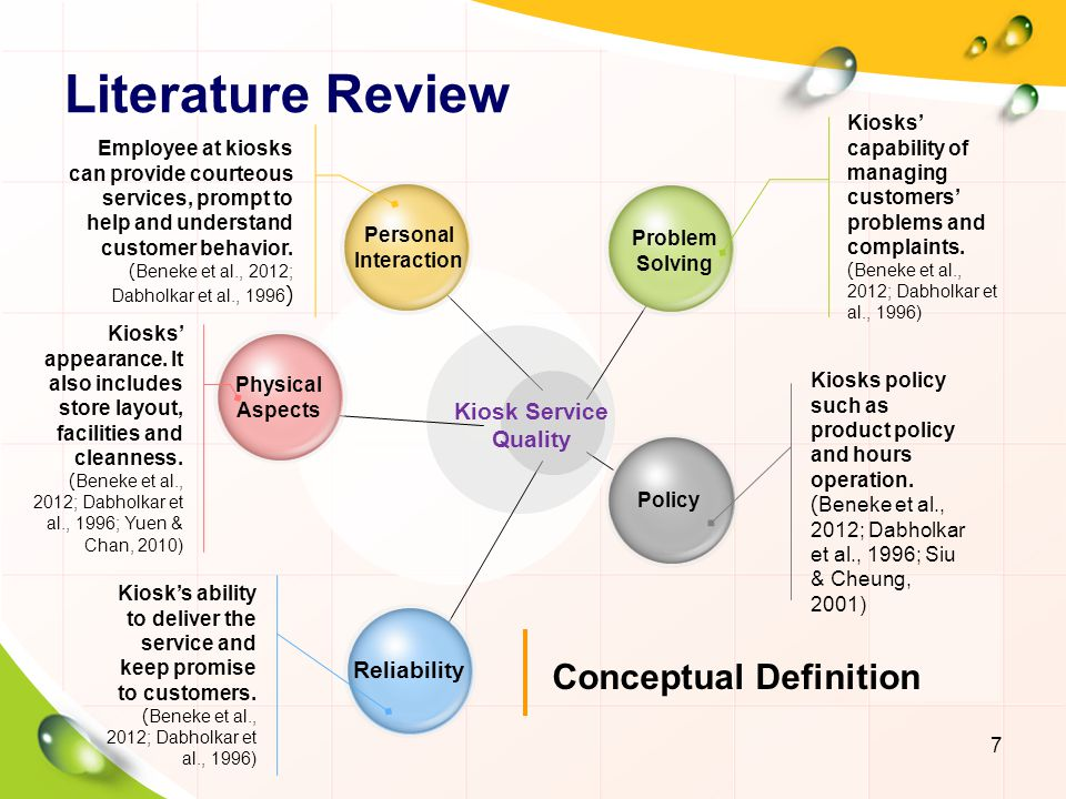 Literature Review For Service Quality