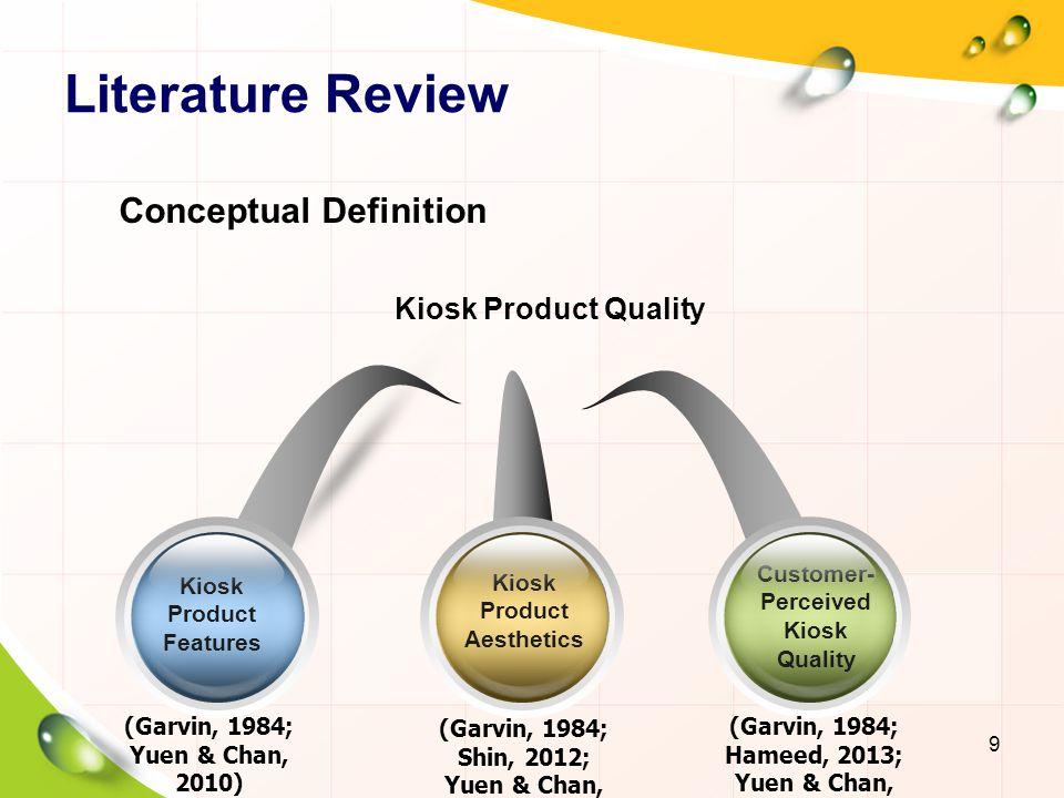 Literature Review Conceptual Definition Kiosk Product Quality