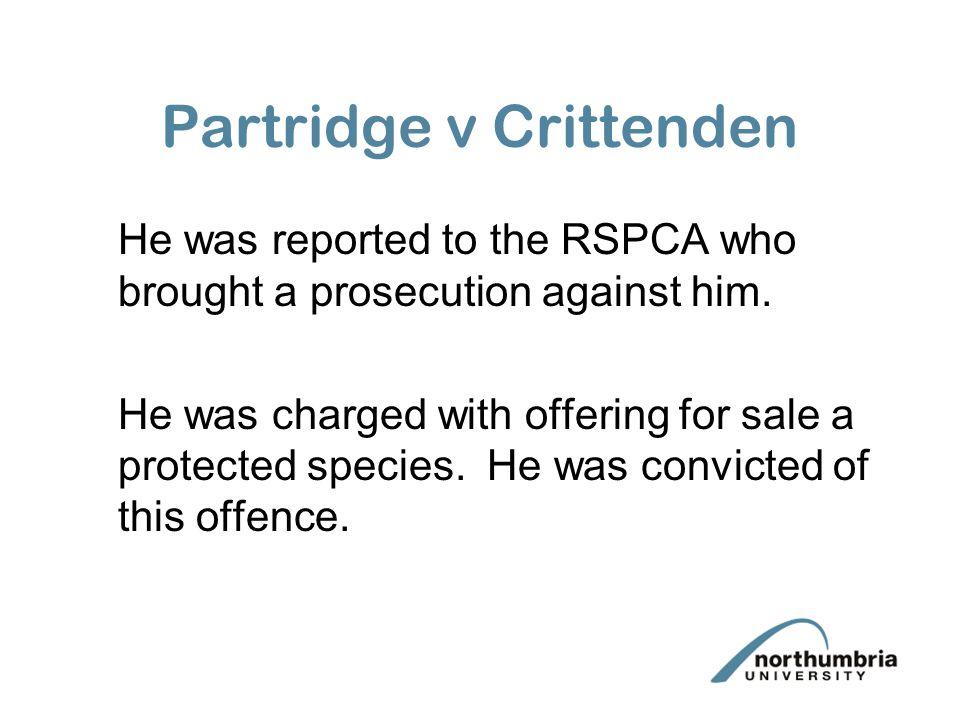 Partridge v Crittenden