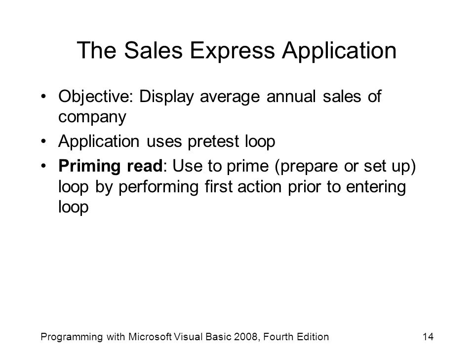 The Sales Express Application