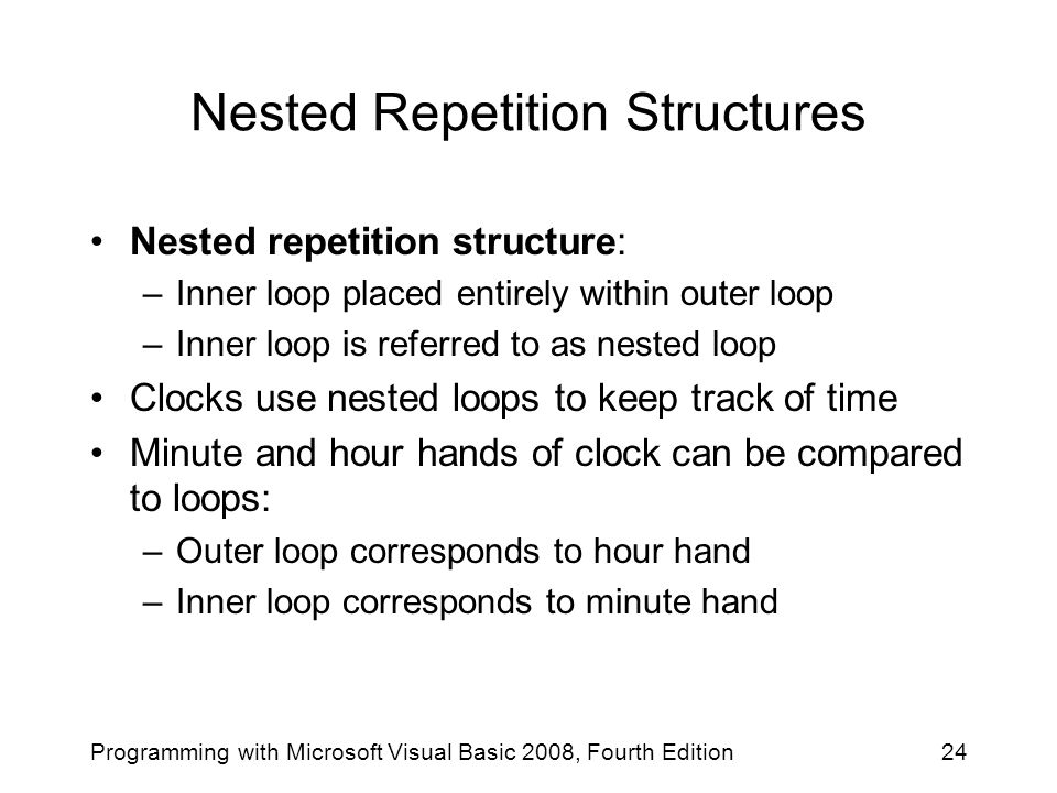 Nested Repetition Structures