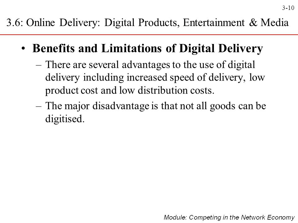 3.6: Online Delivery: Digital Products, Entertainment & Media