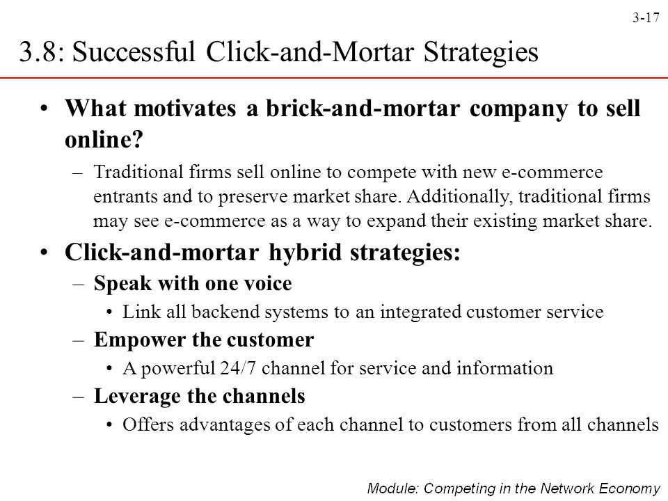 3.8: Successful Click-and-Mortar Strategies