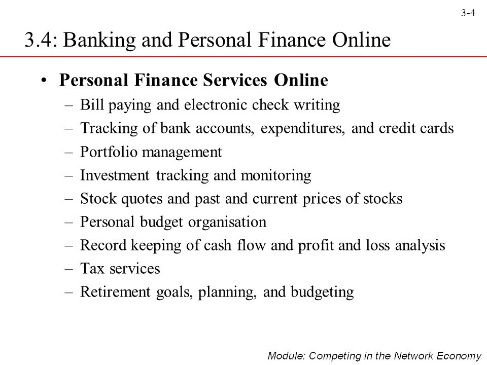 3.4: Banking and Personal Finance Online - ppt video ...