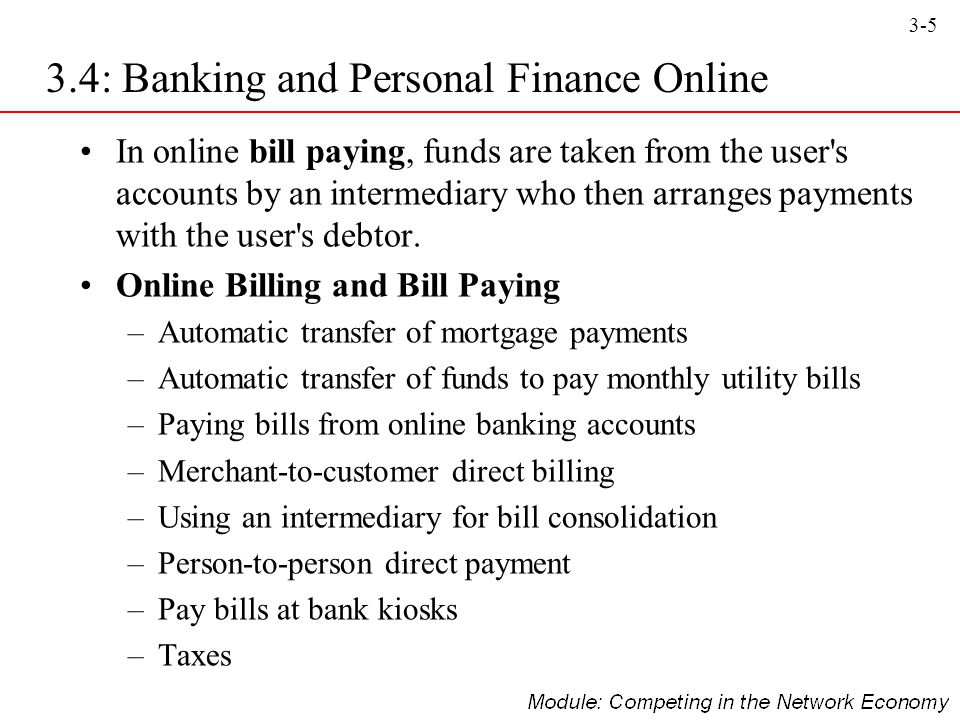3.4: Banking and Personal Finance Online