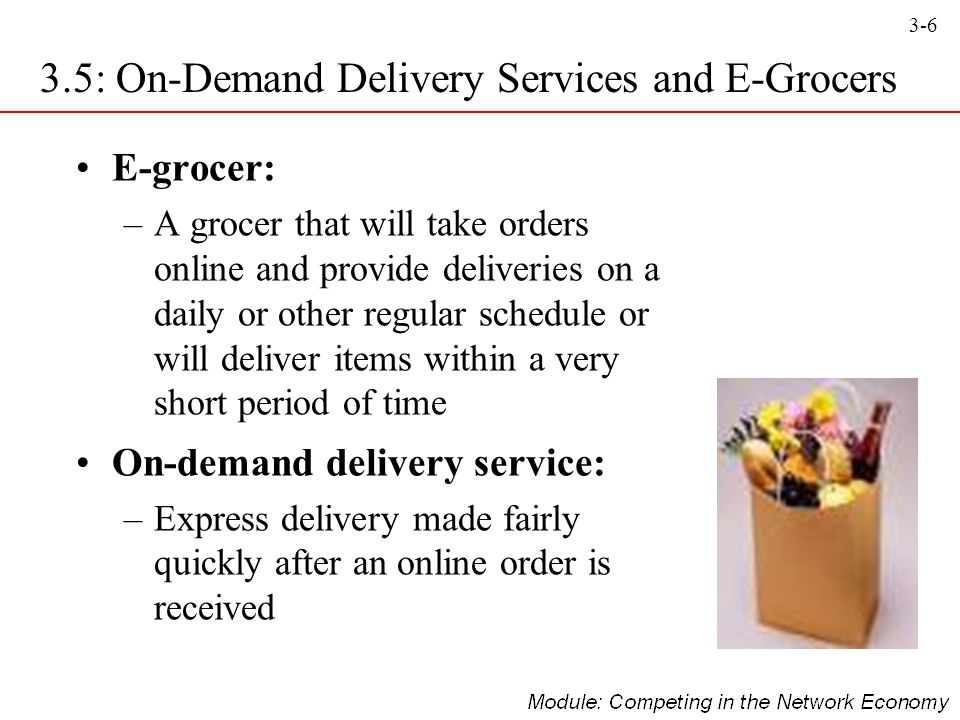 3.5: On-Demand Delivery Services and E-Grocers
