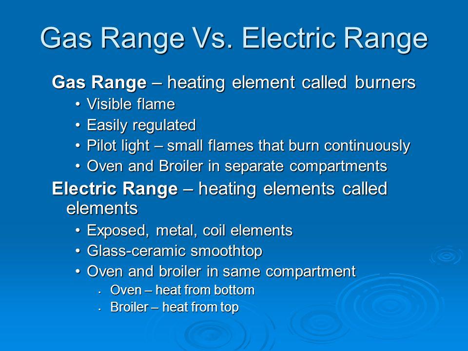 Gas Range Vs. Electric Range