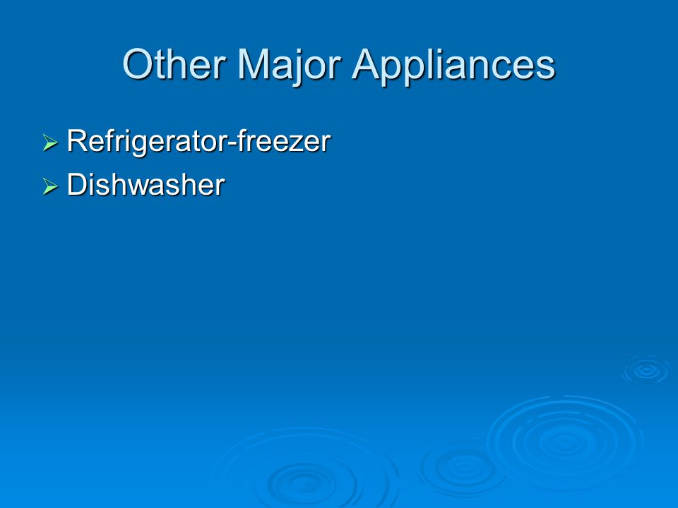 Other Major Appliances